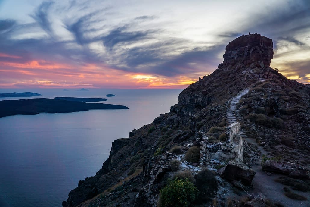An Awesome Photo I took of Skaros Rock in the village of Imerovigli while we were visiting Santorini. I loved it so much, I climbed it 3x.